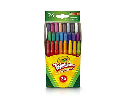 Crayola Twistables Crayons Coloring Set, Mini Art Tools for Kids, 24 Count