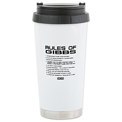 CafePress NCIS: Gibbs Rules2 Ceramic Travel Mug - Standard Multi-color