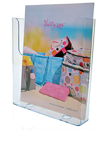 Marketing Holders Brochure Holder for 8.5 X 11 Literature, Clear Acrylic, Single Pocket, Upright Wall Mount Design - Sold in Lots of 10 (2, 8.5'' x 11'') by Marketing Holders