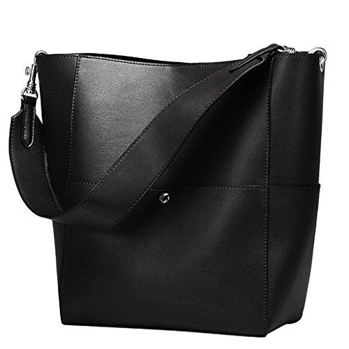 Leather Bucket Handbag - 9