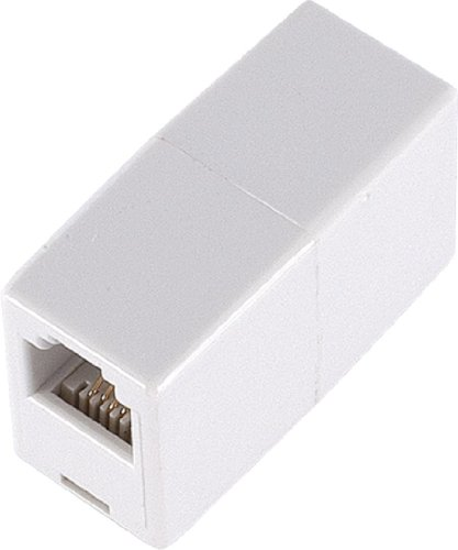 GE TL26190 Telephone In-Line Coupler (White) (Connector Telephone)