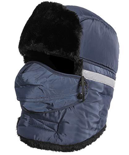 72720e213aa HELLOYEE Winter Warm Tropper Trapper Hat Ushanka Russian Style Bomber Hat