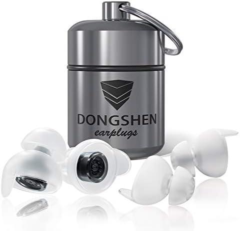 [Gesponsert]DONGSHEN Schlafen Gehörschutz Ohrstöpsel zum Schlafen und gegen Schnarchen Wiederverwendbares&Ultraweiches Silikon...