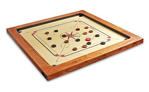 - Surco Boss-K Speedo Carrom Board - Coins & Striker - Kikar Wood Frame, 16mm