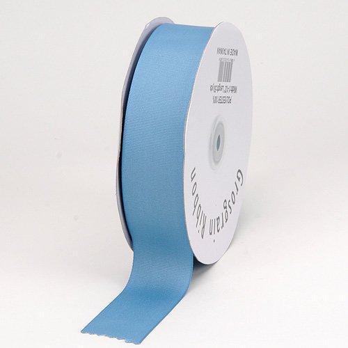 BBCrafts Antique Blue Grosgrain Ribbon Solid Color 5/8 inch 50 Yards