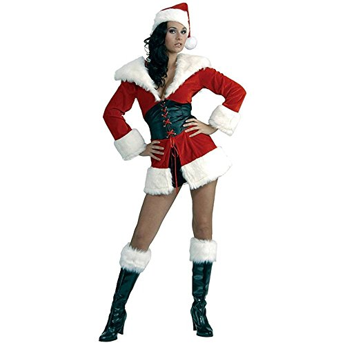 Short n' Sweet Santa Jacket Adult Costume - XS/Small
