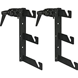Impact Two Triple Background Hooks with Two Superclamps (Black)
