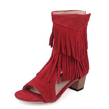 Sandalias mujer Primavera Verano Comfort polipiel vestir casual Chunky talón Borla caminando Ruby