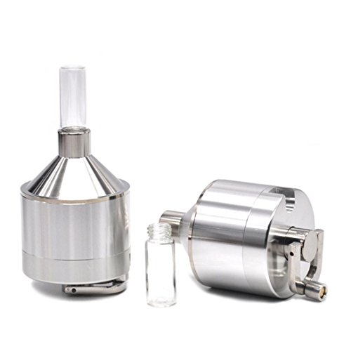 (Botrong Funnel Mill Grinder Metal Aluminium Hand Pollinator Snuff Titanium Press Crusher)