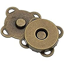 Chris.W 10 Sets 18mm Sew In Magnetic Plum Blossom Bag Button, Snaps, Clasps, Great for Purses Bags Clothes(Bronze)