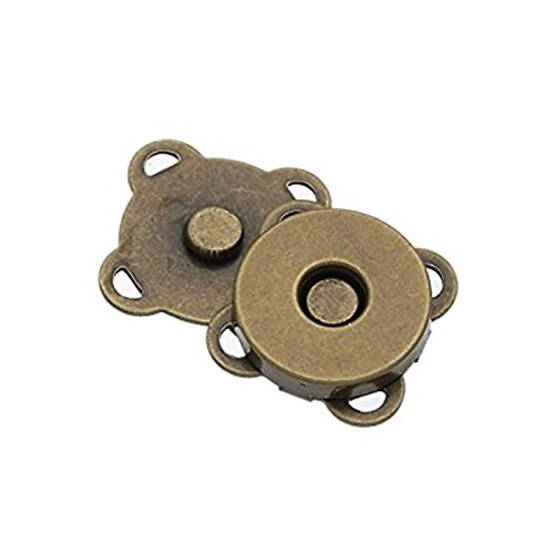 Chris.W 10 Sets 18mm Sew In Magnetic Plum Blossom Bag Button, Snaps, Clasps, Great for Purses Bags Clothes(Bronze) 4337003829