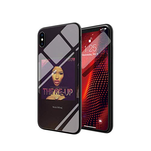iPhone Xs Max Tempered Glass Phone Case A-56 Hip hop Nicki Minaj Soft Silicone TPU Cover