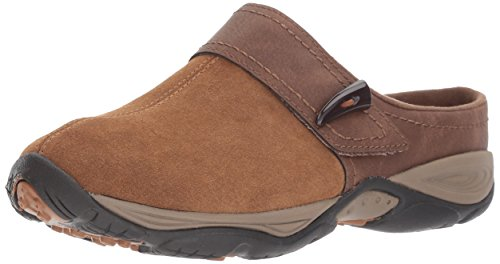 - Easy Spirit Women's Eliana Mule,dark natural/brown suede,8.5 W US