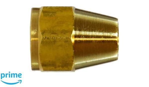 Midland 10-015L Brass SAE 45 Degree Flare Short Rod Nut, 1/4