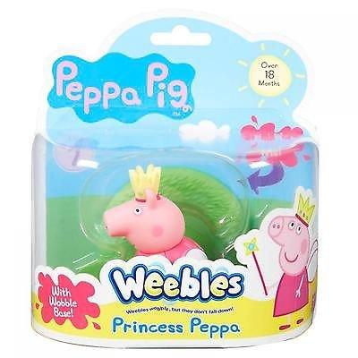 Peppa Pig Weebles Wobbily Figure and Base Princess Peppa Character Options