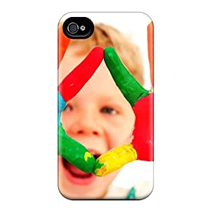 Fashion Tpu Case For Iphone 4/4s- Cute Baby Colors Defender Case Cover