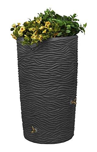 Good Ideas IMP-L65-DAR Impressions Palm Rain Saver, 65-Gallon, Dark Granite
