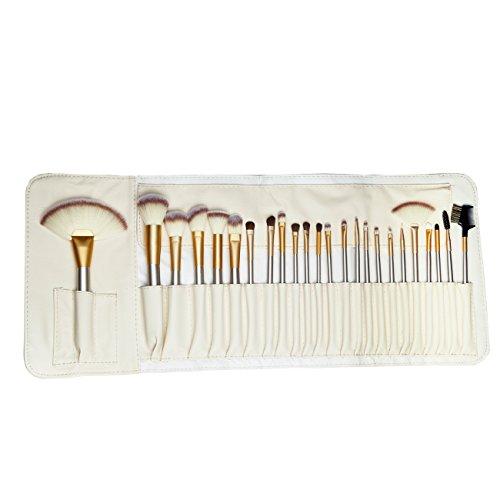 24 PC Makeup Brushes Set Gold Cosmetic Foundation Make Up Kit,Best Professional Makeup Brushes Set,Horse Hair Professional Makeup Brush Set Foundation Makeup Brushes Set