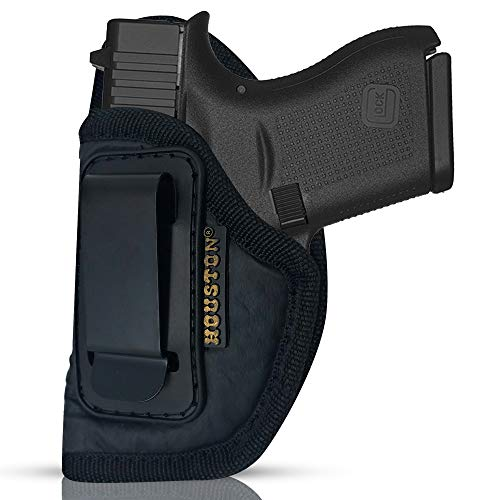 ECO Leather Concealment Holster Inside The Waist with Metal Clip FIT Glock 43 & 42, SIG P365, KAHR PM 45, MAKAROV. KELTEC PF9 / P11 (Left Hand) (CHP-58A-LH)