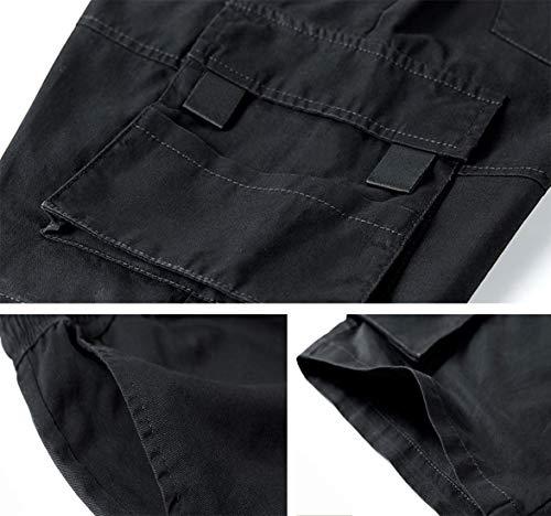 TieNew Homme Militaire Cargo Short de Loisir Travail Casual Imprimé Camouflage Bermuda Pantalon Court Multi Poches… 4