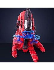 BST-MAI Spiderman Launcher Glove Kids Plastic, Cosplay Handschoen Hero Launcher veilig en onschadelijk Spiderman speelgoed, kinderpuzzelspeelgoed (1 Launcher + 3 zuignap Darts + 1 handschoen)