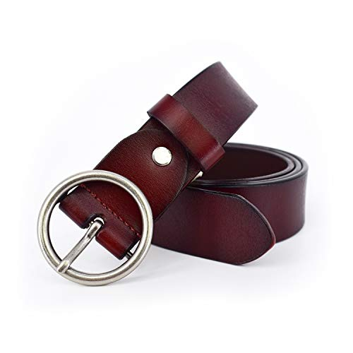 - Adjustable Round Buckle Women Real Leather Belts for Jeans Utility Western Designer Real Gg Belts for Woman Dress Pants