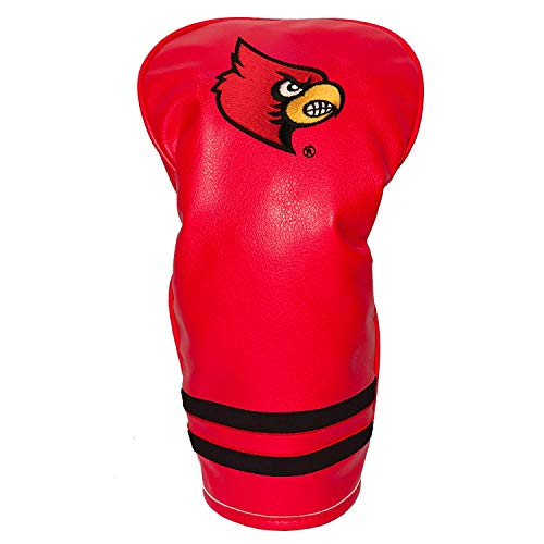 Team Golf NCAA Louisville Cardinals Vintage Driver Golf Club Headcover, Form Fitting Design, Retro Design & Superb Embroidery