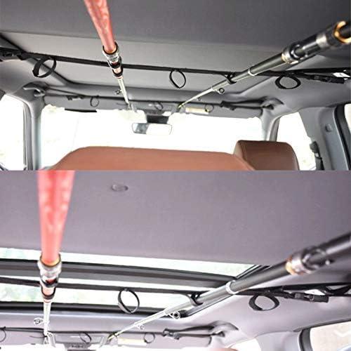 2x Car SUV Fishing Rod Rack Holder Straps Belts 31/'/'-47/'/' Adjustable Universal