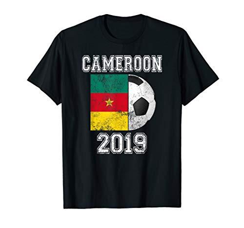 CAMEROON Flag 2019 France - Women's World Soccer Tournament T-Shirt