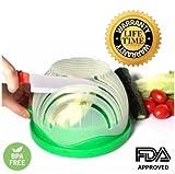 Salad Cutter Bowl, Salad Maker in 60 Seconds, Colander, Salad Bowl & Salad Chopper