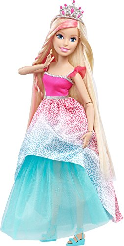 Barbie Endless Hair Kingdom Princess Doll, Pink/Blue (Barbie Best Fashion Friend)