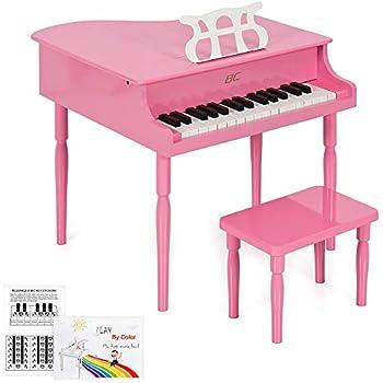 Amazon Com Goplus Classical Kids Piano 30 Keys Wood Toy