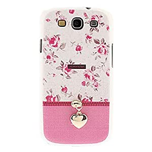RC - Flower Pattern with Zipper Hard Case for Samsung Galaxy S3 I9300