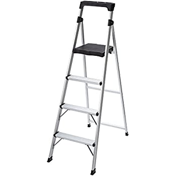4 Step Ultra Light Aluminum Step Stool Ladder With 225 Lb