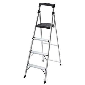 4 Step Ultra Light Aluminum Step Stool Ladder With 225 Lb
