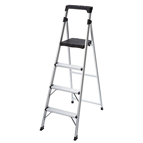 4-Step Ultra-Light Aluminum Step Stool Ladder with 225 lb. Load Capacity by Gorilla Ladders