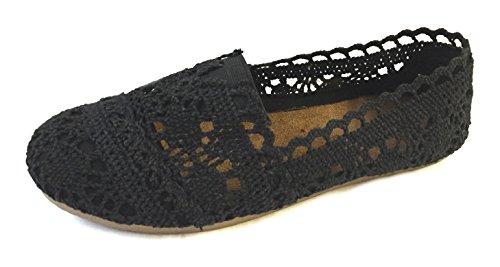 Colors Flats Womens Black 3008A 5 on Slip Canvas Shoes 18 Shoes x48Y6q