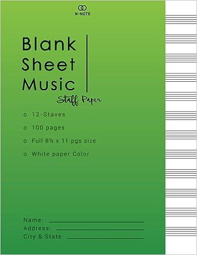 Blank Sheet Music Staff Paper Music Manuscript Paper