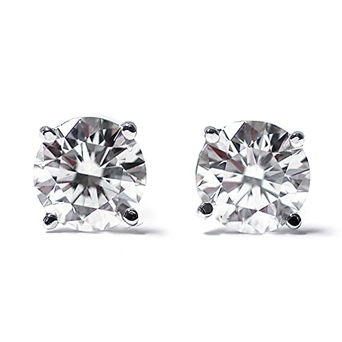 diamond gem earrings - 2