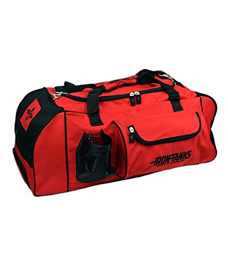 - Iron Tanks Venom Gym Bag - Powerlifting Bodybuilding Heavy Duty Duffel Overnight