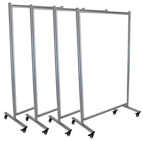 Mobile Magnetic Whiteboard Room Divider (4 Pack)