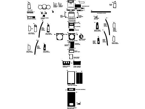 - Rvinyl Rdash Dash Kit Decal Trim for Nissan Maxima 2004-2006 - Wood Grain (Burlwood Honey)