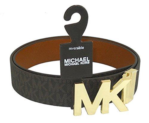 Michael Kors Signature Logo Reversible Belt - Brown (Medium) ()