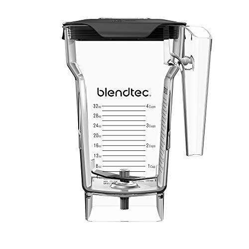 Blendtec FourSide Jar (75 oz), Four Sided, Professional-Grade Blender Jar, Vented Latching Lid, BPA-free, Clear (Small Jar Blender)