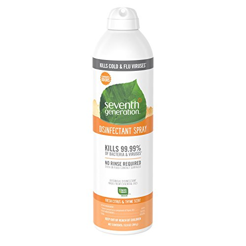 Seventh Generation Disinfectant Spray, Fresh Citrus & Thyme, 13.9 Ounce (Pack of 4)