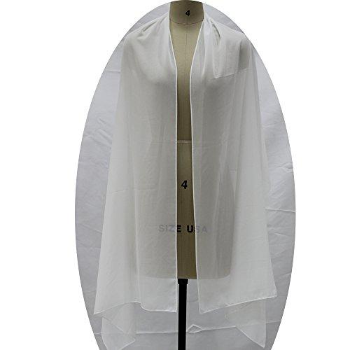 Lanbaodress Wedding Jacket Wraps Bolero Chiffon Women Cap Wrap Shrug For Evening Dresses Ivory