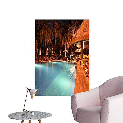 SeptSonne Wall Stickers for Living Room A Swimming Pool in Maldives Vinyl Wall Stickers Print,32