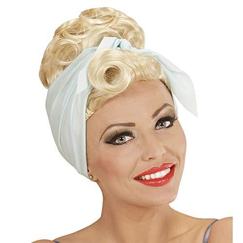 Blonde Rockabilly Girl Wig With -