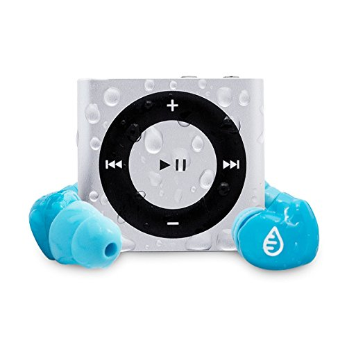 Waterfi Waterproof iPod Shuffle Swim Kit with SwimActive Waterproof Headphones, Durable Zip Case, Signature PlatinumX Waterproofed iPod and 2 Year Warranty (Silver)