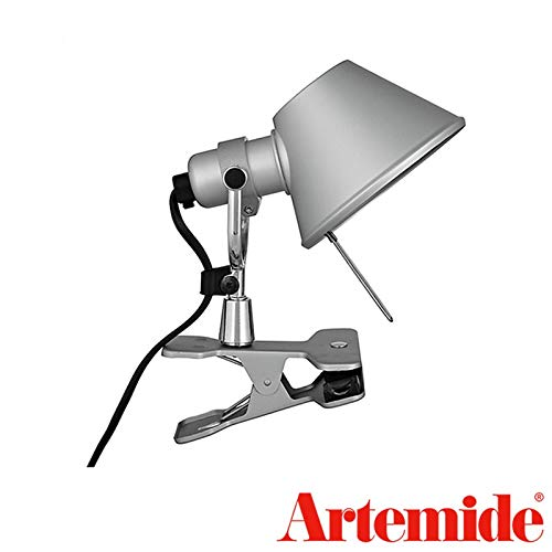 (Artemide Tolomeo Micro Pinza LED Aluminum Table Wall Lamp Design De Lucchi Fassina)